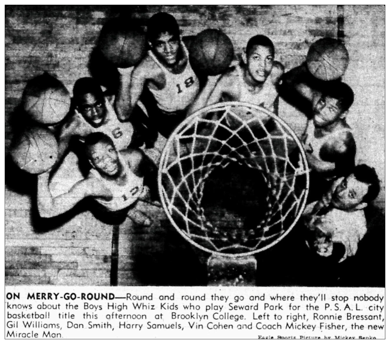 Boys high starting 5 1952