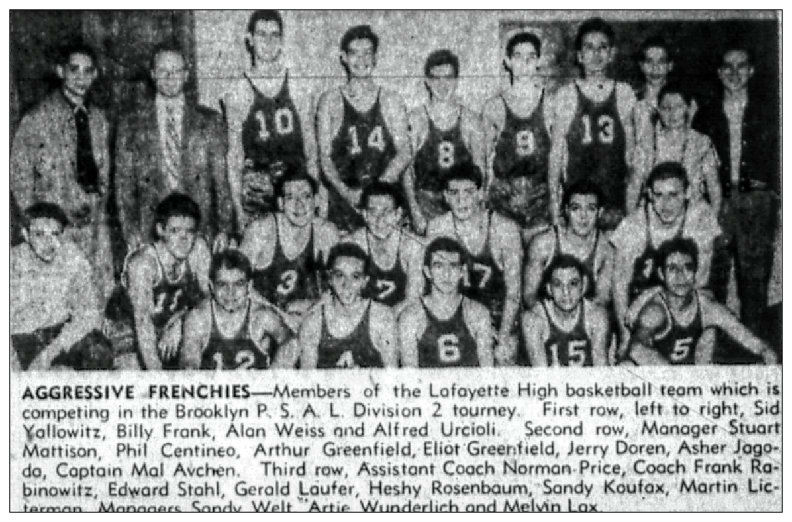 Lafayette basketball february 1952 %281%29